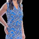 Alternate View 1 of Mystic Sleeveless Hibiscus Print Scallop Dress