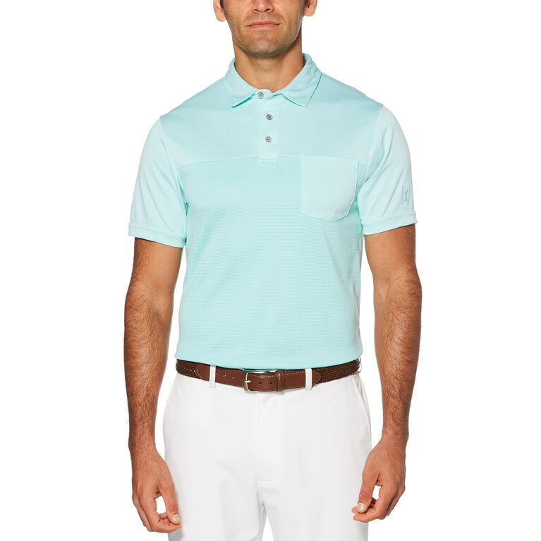 End on End Air Texturized Yarn Short Sleeve Polo Golf Shirt