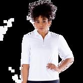 Sylvie Elbow Sleeve Polo Shirt