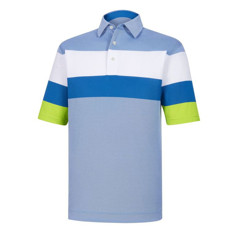 Engineered Birdseye Pique Self Collar Polo