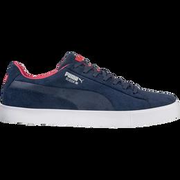PUMA Suede G USA Men's Golf Shoe - Navy/White/Red