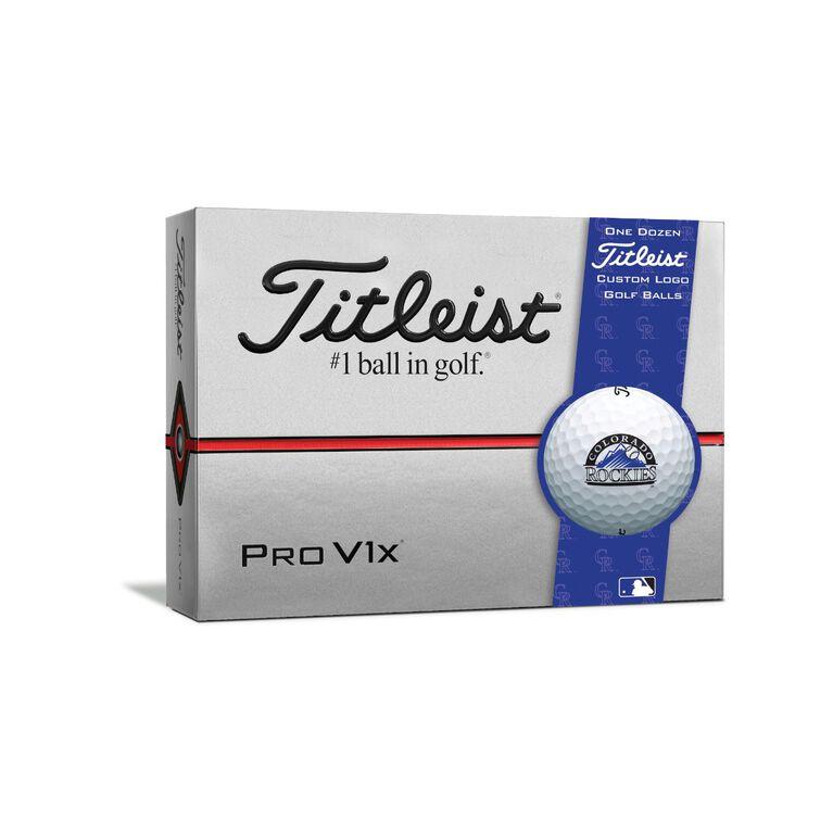 Colorado Rockies Pro V1x Golf Balls