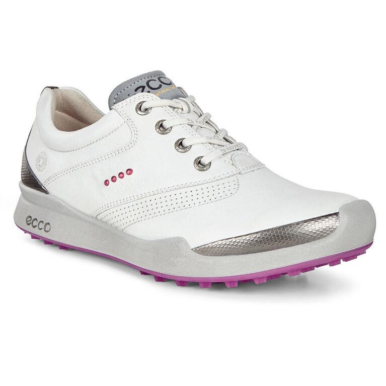 ECCO BIOM Hybrid HM Women's Golf Shoe - White/Pink
