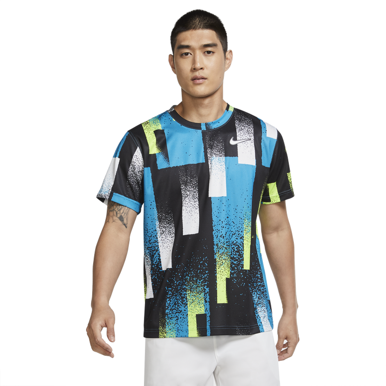 Dri-FIT Men's Retrp Printed Tennis Crew Top