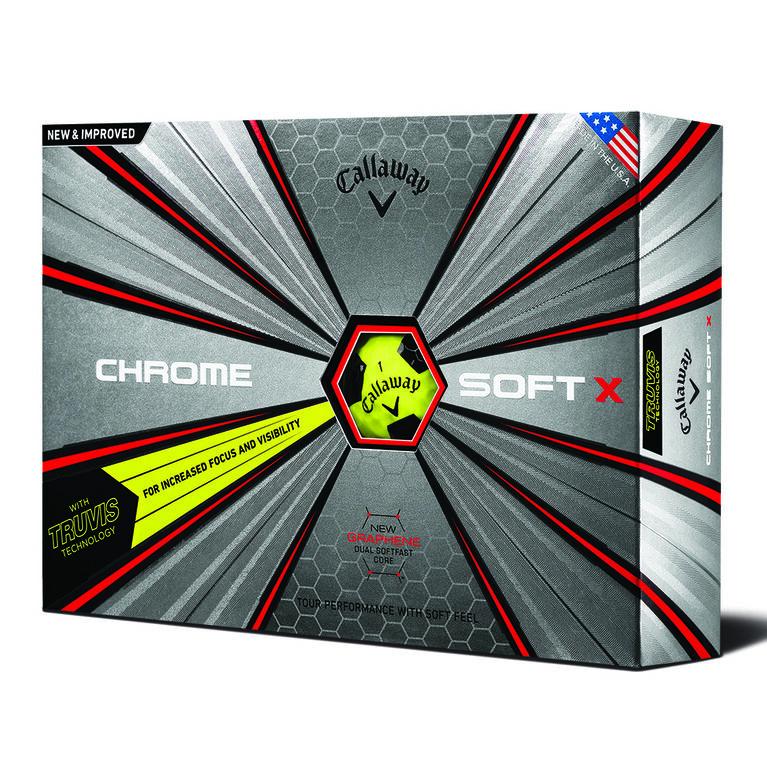 Callaway Chrome Soft X Truvis Golf Balls - Yellow/Black