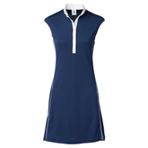 Red Dimension Collection: Ginger Cap Sleeve Contrast Trim Dress
