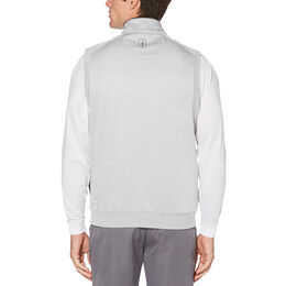 PGA TOUR Water Repellent Heathered Fleece 1/4 Zip Vest