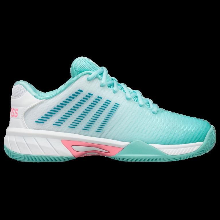 Hypercourt Express 2 Juniors Tennis Shoe - Light Blue/White