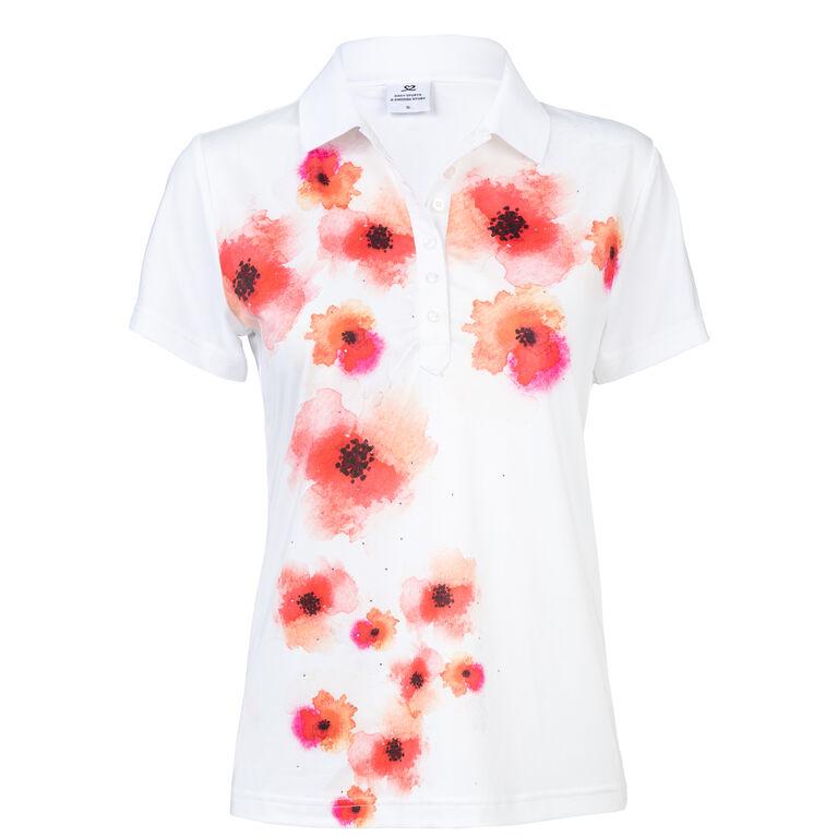 Poppy Group: Jemima White Polo Shirt