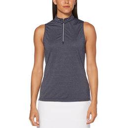 Aqua Group - Sleeveless Tonal Stripe Mock Top