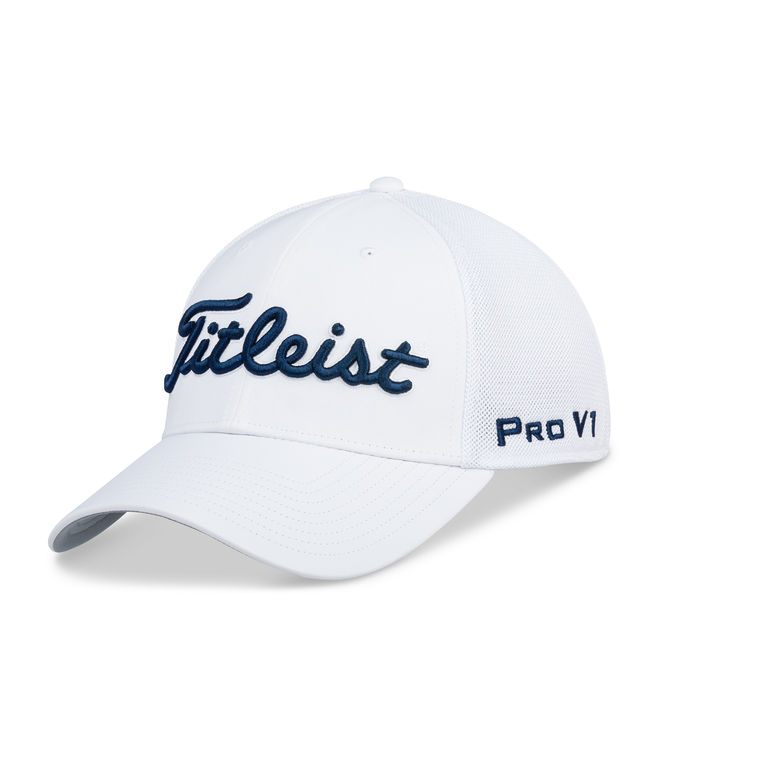 Tour Sports Mesh White Hat