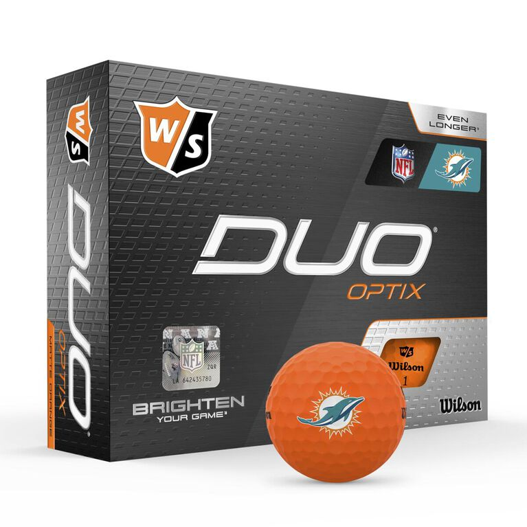 DUO Optix NFL Golf Balls - Miami Dolphins