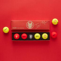 Marvel x Volvik Vivid Special Pack Golf Balls - Ironman