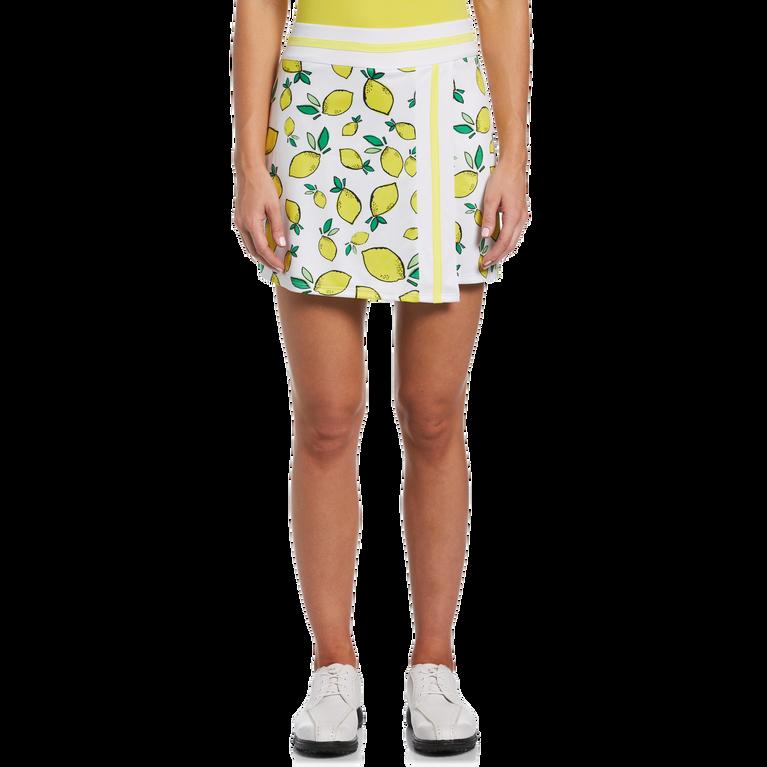 Summer Lemon Collection: Lemon Print Wrap Golf Skort