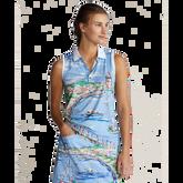 Airflow Graphic Print Sleeveless Polo Shirt