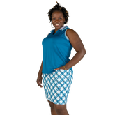 Alternate View 4 of Ocean Breeze Collection: Striped Collar Sleeveless Polo