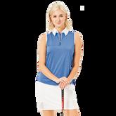 Laguna Collection: Keystone Sleeveless Zip Polo