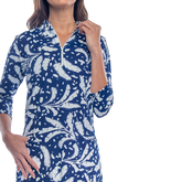 Alternate View 2 of Doral 3/4 Sleeve Leaf Print Dress