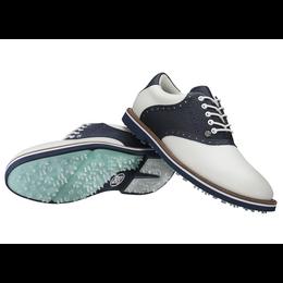 G/FORE Saddle Gallivanter Men's Golf Shoe - White/Navy