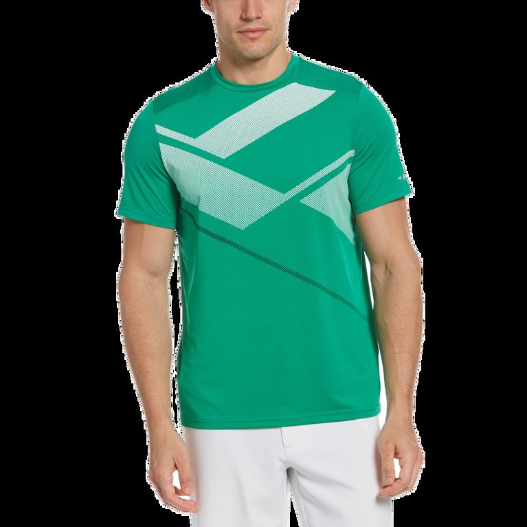 Textured Geo Print Short Sleeve Tee Shirt