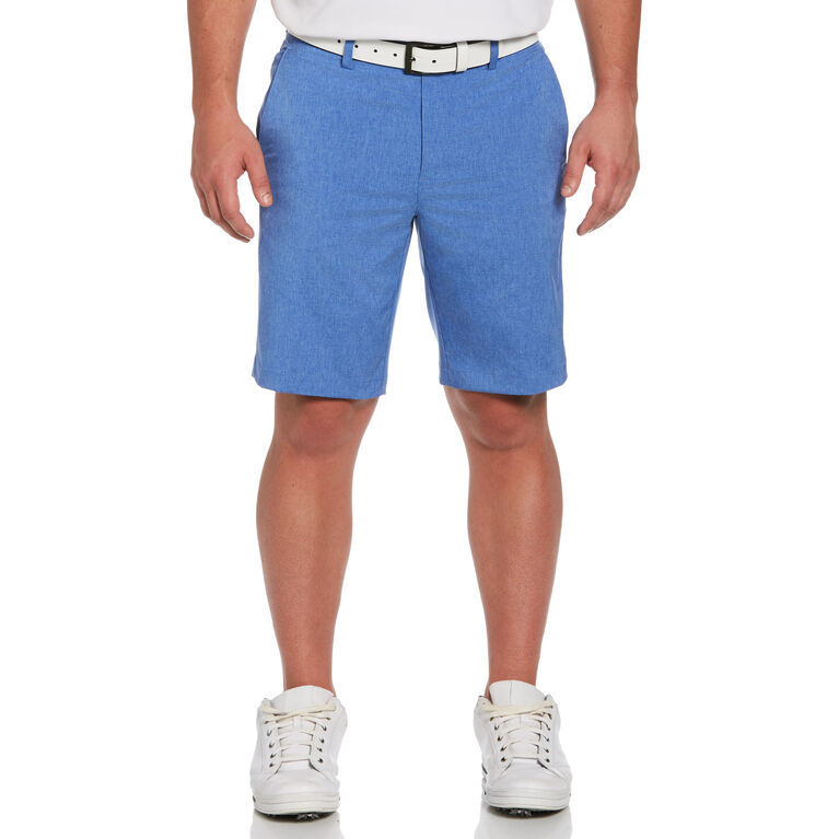 Flat Front Heather Golf Short with Active Waistband