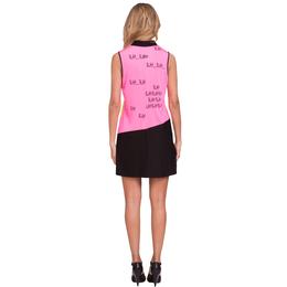 Blah Blah Blah Collection: Sleeveless Blah Blah Print Dress