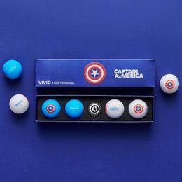 Marvel x Volvik Vivid Special Pack Golf Balls - Captain America