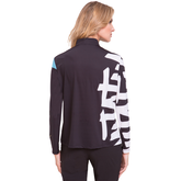 Alternate View 1 of Sunsense Doodle Print Quarter Zip Pull Over