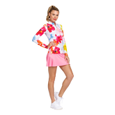 Alternate View 2 of Floral Fun Long Sleeve Quarter Zip Pull Over