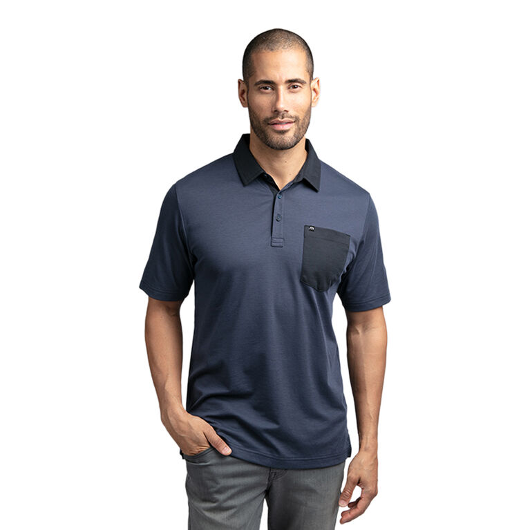 No Hitter Short Sleeve Stripe Pocket Polo