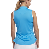 Alternate View 2 of Cheeky Collection: Sleeveless Rounded Hem Polo Shirt