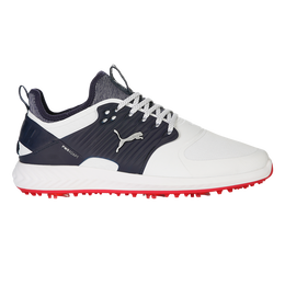 IGNITE PWRADAPT Caged Men's Golf Shoe - White/Silver