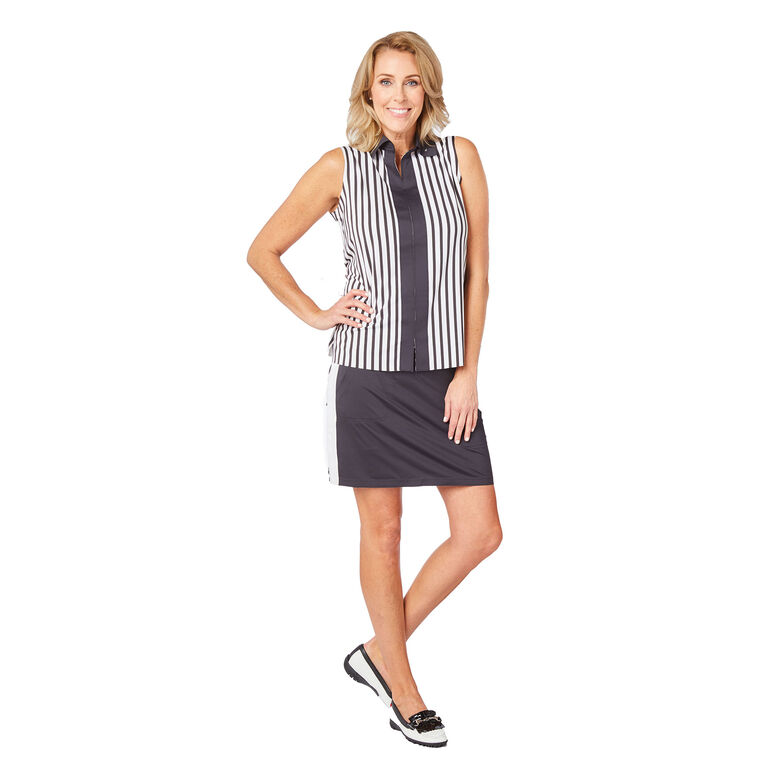 Carlisle Group: Sleeveless Contrast Polo