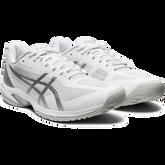 Alternate View 5 of Court Speed FF Men's Tennis Shoe - White/Silver