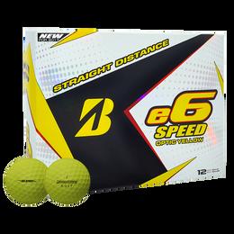 Bridgestone e6 Speed Golf Balls - Yellow