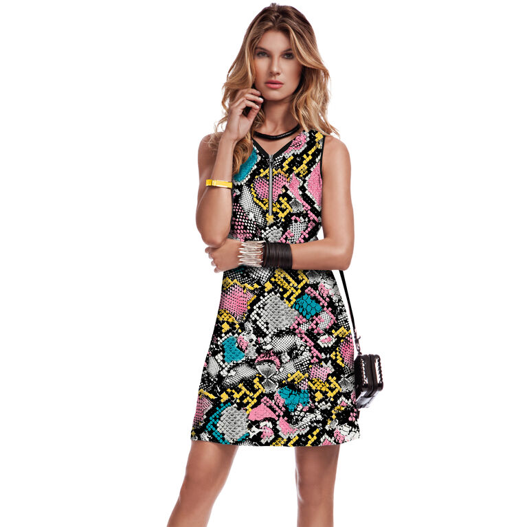 Sweetie Collection: Rainbow Snake Print Sleeveless Dress