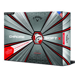 Callaway Chrome Soft X Truvis Golf Balls - White/Red (Prior Generation)