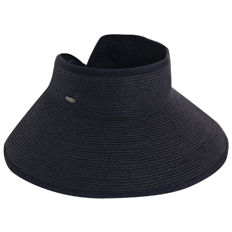 Dorfman Paper Braid Roll-Up Hat