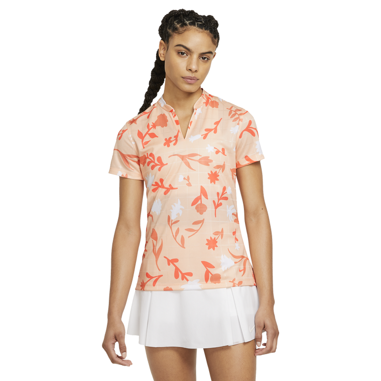 Breathe Women's Short Sleeve Floral Printed Golf Polo