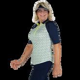 Alternate View 5 of Limonata Collection: Short Sleeve Dot Print Quarter Zip Polo Shirt