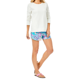 Alternate View 1 of Beach Comber Resort White Luxetic Pullover