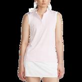 Alternate View 3 of Sleeveless Mesh Striped Quarter-Zip Polo Shirt