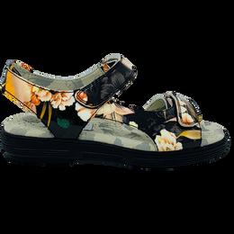 Two-Strap Spikeless Women's Golf Sandal - Exotic FlowerBird