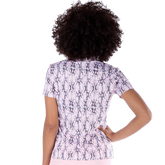 Alternate View 3 of Dynamo Collection: Snake Print Short Sleeve Mock Collar Top