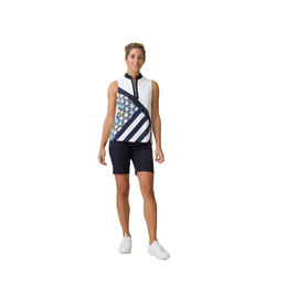 Feminine Sport Collection: Fia Sleeveless Multi Print Top