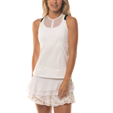 Lace Yourself Collection: Hi-Zip Mesh Tennis Cami Tank Top