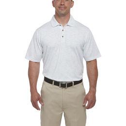 Short Sleeve Space Dye Stripe Polo