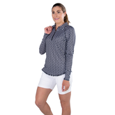Alternate View 6 of Key West Collection: Long Sleeve Geo Print Quarter Zip Pull Over