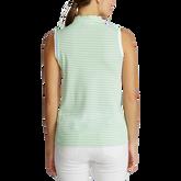 Alternate View 3 of Striped Sleeveless Quarter-Zip Polo Shirt