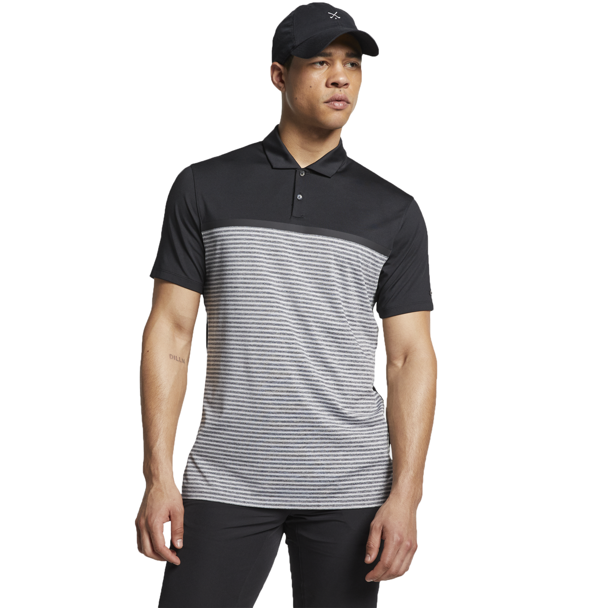 ac13edd1 Nike Dri-Fit Tiger Woods Vapor Stripe Block Polo | PGA TOUR Superstore
